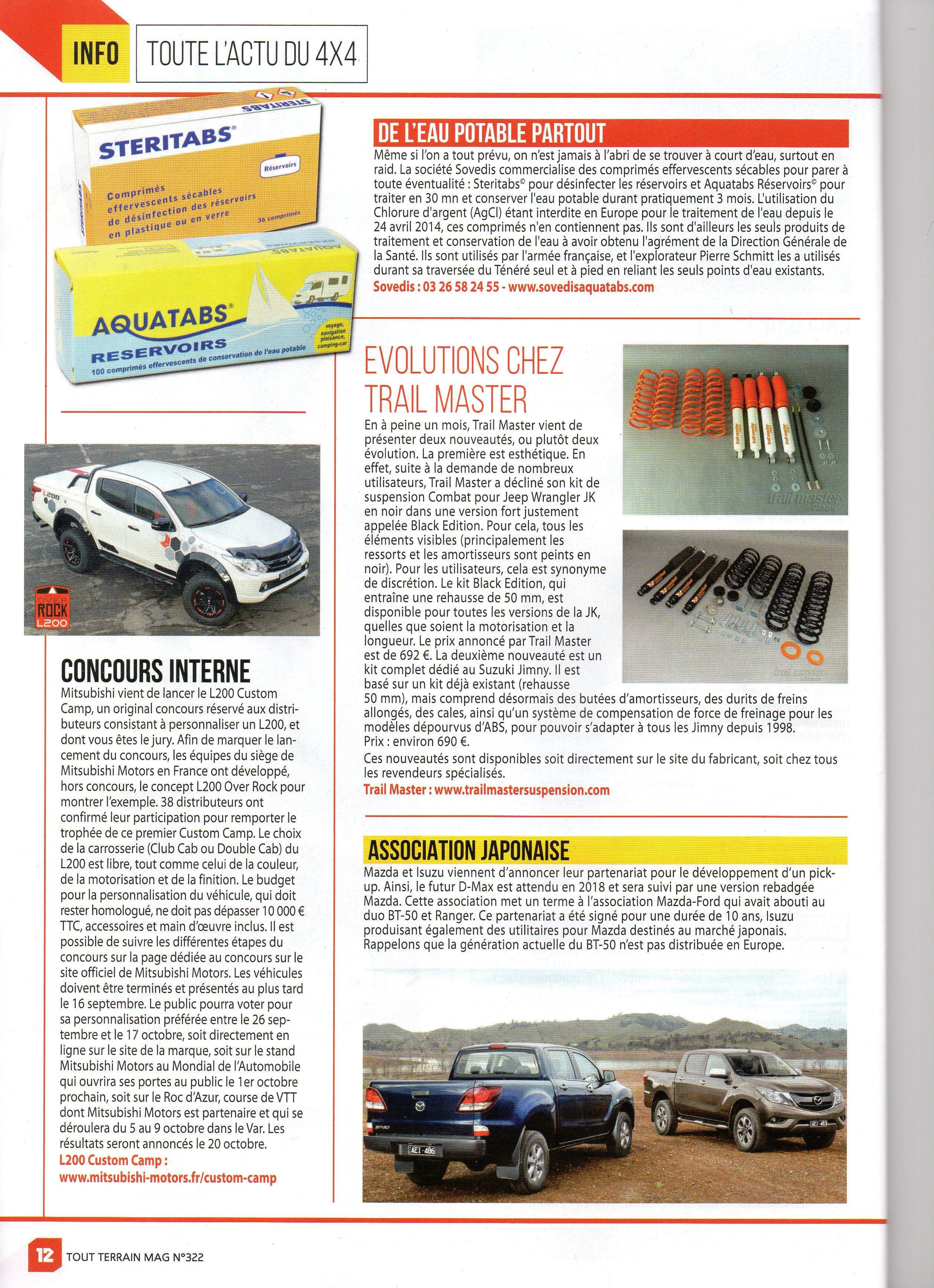 Article Tout Terrain Mag 2016