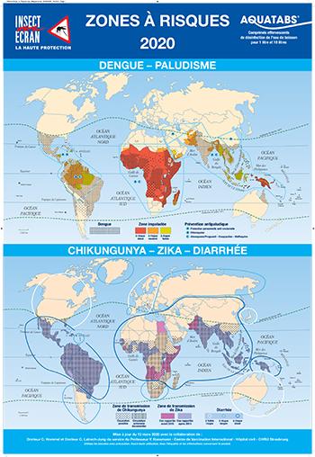 Mappemonde Zones à risques 2020